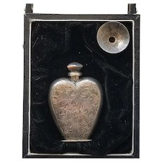 Rare Vintage Sterling Silver Perfume with Funnel in Original Box