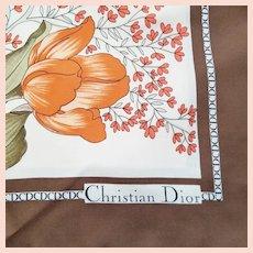 Vintage Signed Christian Dior Scarf