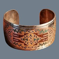 Old Pawn Navajo Sterling Silver Cuff Bracelet