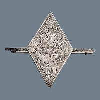 Antique Sterling Silver Aesthetic Brooch