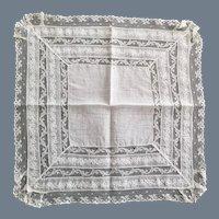 Vintage Bride's Handkerchief