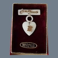 Vintage Officer in the Army Quartermaster Corps Sweetheart Brooch in Original Box