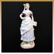 Vintage Porcelain Bar Maid Figurine