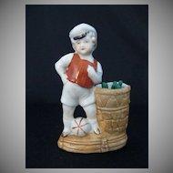 Vintage Porcelain Match Holder and Striker