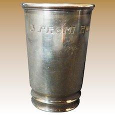 Vintage 830 Silver Engraved Liquor Shot Cup