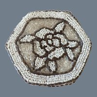Vintage Hand Beaded Coin Purse or Compact Pouch