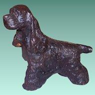 Vintage Heavy Metal Cocker Spaniel Dog Figurine