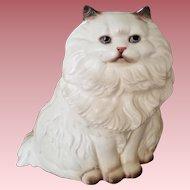 "Rare Vintage Signed Hagen Renaker Figurine Seated Cat - ""Silver"""