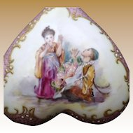 Antique Signed Klingenberg Porcelain Covered Box