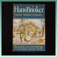 "Vintage Book - ""Hans Brinker"" or ""The Silver Skates"""