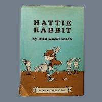 """Vintage Children's Book - """"Hattie Rabbit"""""""