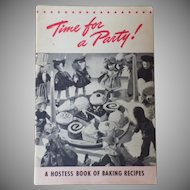 "Vintage Cookbook - ""Time for a Party"" with Vintage Doll Photos"