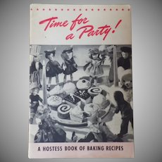 """Vintage Cookbook - """"Time for a Party"""" with Vintage Doll Photos"""