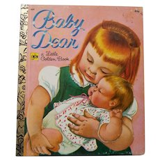 "Vintage Children's Little Golden Book - ""Baby Dear"""