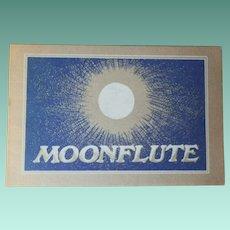 "Very Rare Vintage Softbound Book -"" Moonflute"""