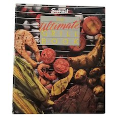 """Vintage Cookbook - """"Sunset- The Ultimate Grill Book"""""""