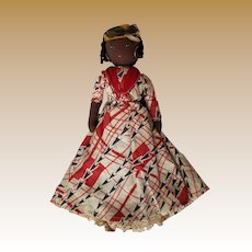 Vintage Black Americana Hand Made Cloth Doll