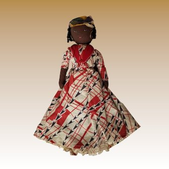 Vintage Black Americana Hand Made Cloth Doll