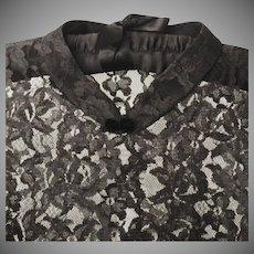 Vintage Black Lace Coat