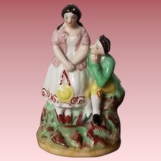 Vintage Staffordshire Style Young Couple Figurine