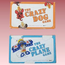 Lot of Two Vintage Games - The Crazy Dog Game and The Crazy Plane Game