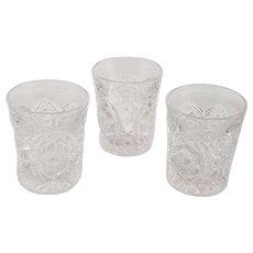 Set of Three Vintage EAPG Glasses