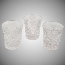 Set of Three Vintage EAPG Glasses