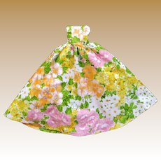 """Vintage Floral Gown for 18"""" Fashion Doll"""