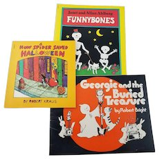 Vintage Halloween Trio of Children's Books