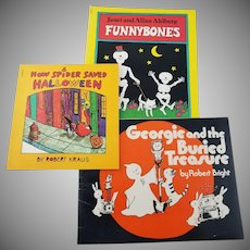 Vintage Halloween Trio of Children's Books