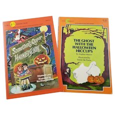 Two Vintage Softcover Halloween Books