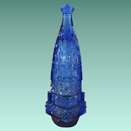 Antique Cobalt Blue Glass Automobile Vase