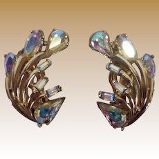 Vintage Signed Hollycraft Earrings