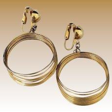 Vintage Goldtone Space Age or Slinky Earrings