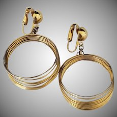 Vintage Goldtone Space Age or Slinky Earrings