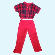 """Vintage Home Sewn Pants and Top Outfit for 18"""" Miss Revlon"""