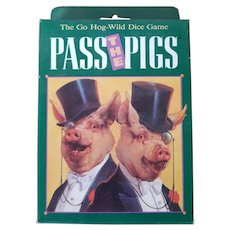 "Vintage Unopened ""Pass the Pigs"" Card Game - Red Tag Sale Item"