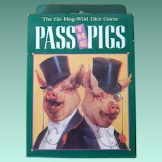 """Vintage Unopened """"Pass the Pigs"""" Card Game"""