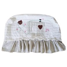 Vintage Appliqued and Embroidered Sewing Machine Cover