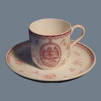 Rare Vintage Wedgwood Demitasse Cup and Saucer Set