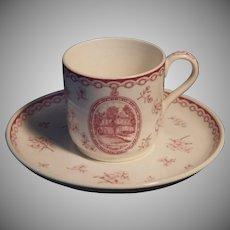 Rare Vintage Wedgwood Demitasse Cup & Saucer Set