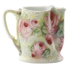 Antique Signed Royal Bayreuth Rose Tapestry Pitcher