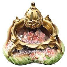 Beautiful Amphora Art Nouveau Carlsbad Austria Porcelain Covered Bowl