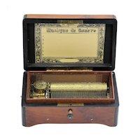 Circa 1893 Charles Paillard Six Tune Swiss Music Box