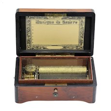 Circa 1893 Charles Paillard Six Tune Swiss Music Box