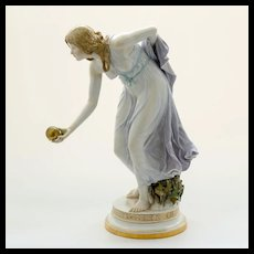 Rare Signed Meissen Porcelain Figurine by Walther Schott