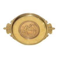 Antique Circa 1880 Bronze Mythological Tazza