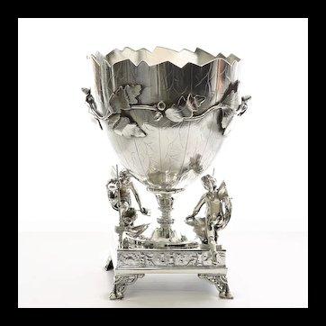 Monumental Circa 1875 Victorian Derby Silverplate Centerpiece