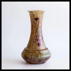 Circa 1890 Iridescent Rindskopf Jugendstil Vase