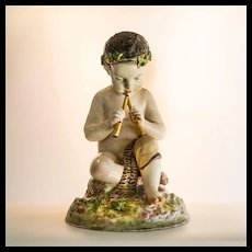 Circa 1904 Antique Victorian Kalk German Porcelain of Pan